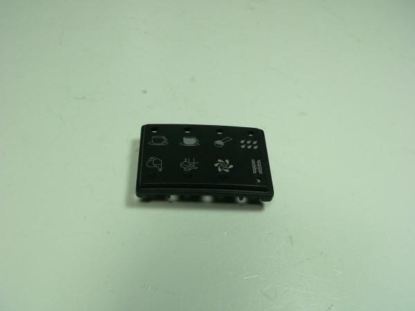 Jura Blende LED schwarz bedruckt für E50