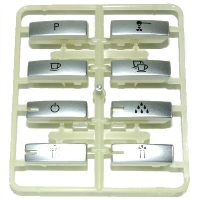 Tastenrechen silber metallic für Jura F90, F9
