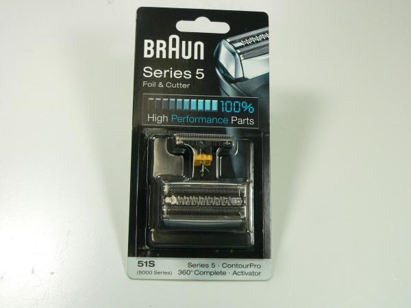 Braun Kombipack 51S, KP8000 silber, Series 5